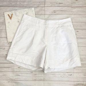 ann taylor womens 2 white high waisted shorts cott